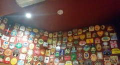 Beer mats inside pub #2 of the tour