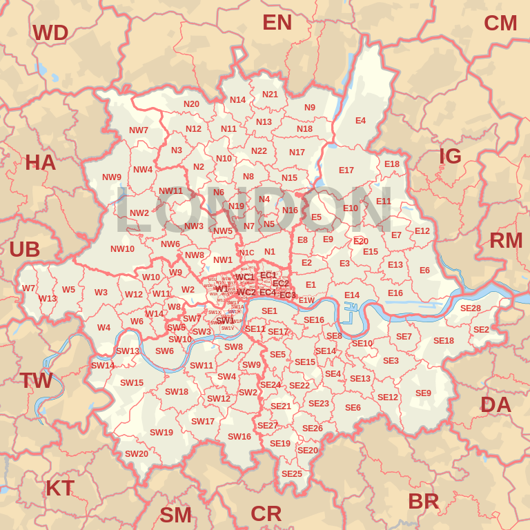 768px-LONDON_post_town_map