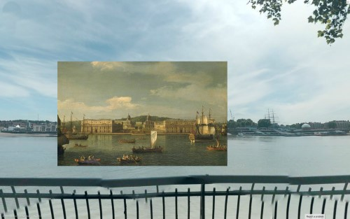 A View of Greenwich from the River (1750-2) Canaletto