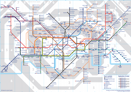 new 2015 tube map walked for the first time