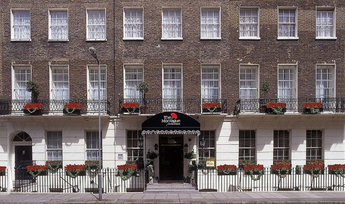 Hotel in a typical Bloomsbury terraced house
