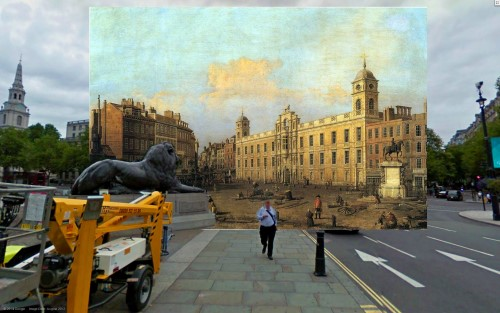 Have You Seen The Stunning Old Paintings Of London In Their Modern Settings?