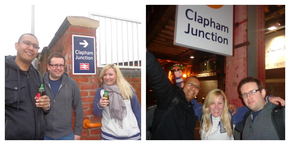 the start and finish of the overground pub crawl
