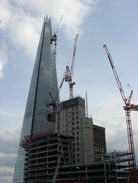 The Shard With Construction In Front