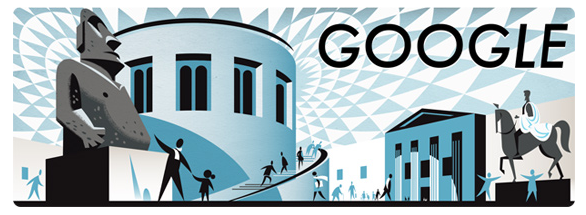 Google Doodle for British Museum's 255th Birthday