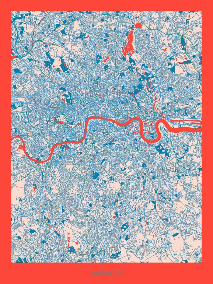 Map To London.10 New Unique Minimalist Artistic Maps Of London Randomly London