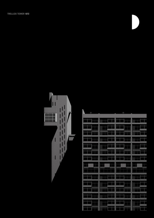 3 Ghostly Illustrations of London's Iconic Brutalist Building
