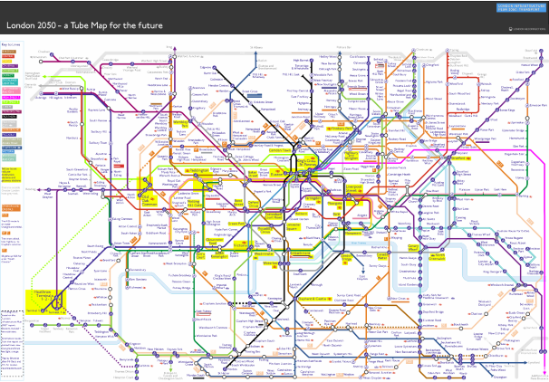 What The Tube Map Could Look Like In 2050